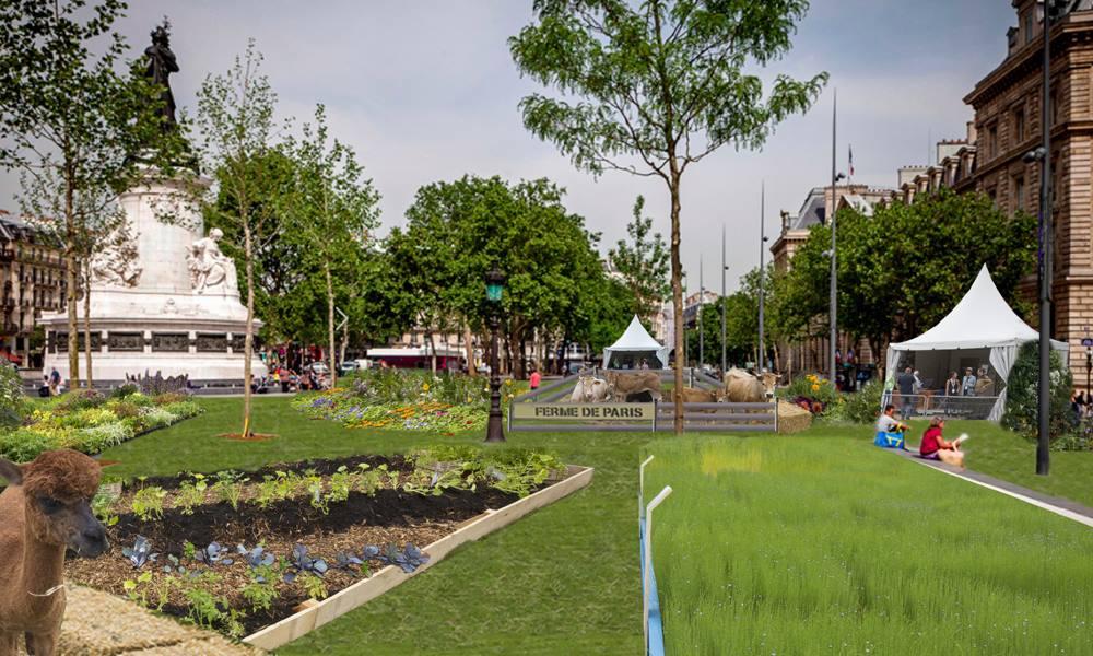 La Place de La République se transforme en jardin ce week-end!