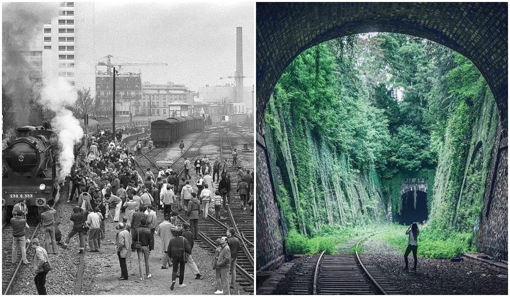 Avant / après : la Petite Ceinture des années 1900 vs aujourd'hui