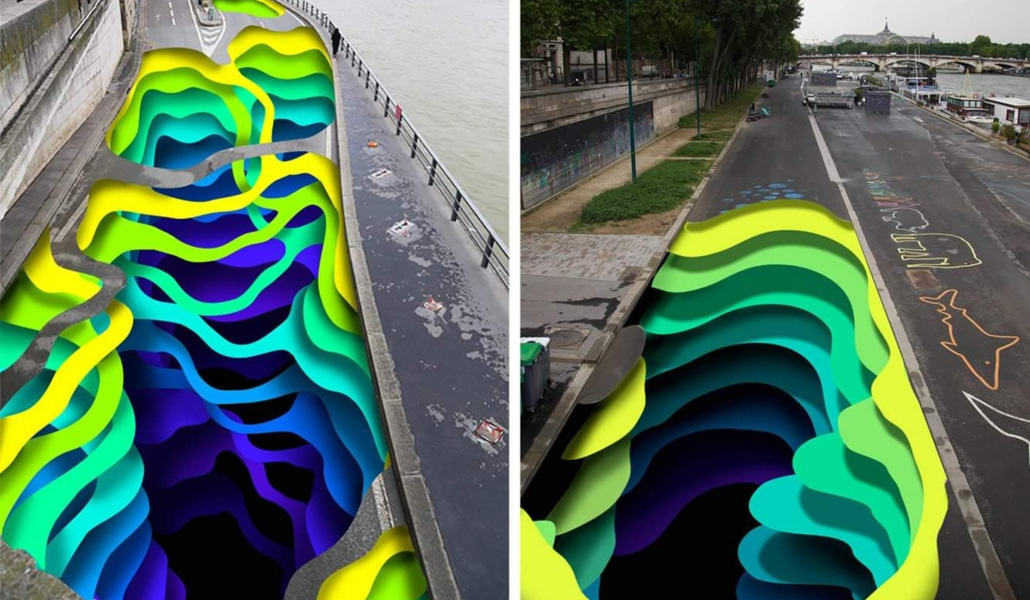Un gigantesque trompe-l'œil s'installe sur les quais de Seine !
