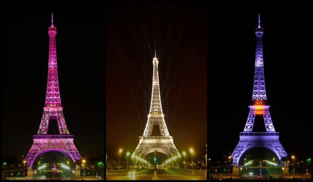La tour Eiffel s'illuminera au couleurs du Japon