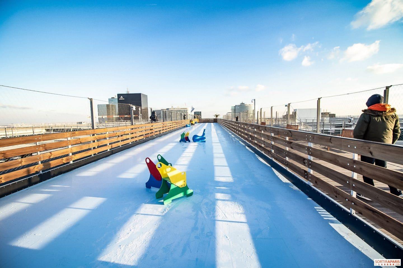 La gigantesque patinoire éphémère du rooftop de la Grande Arche est de retour !