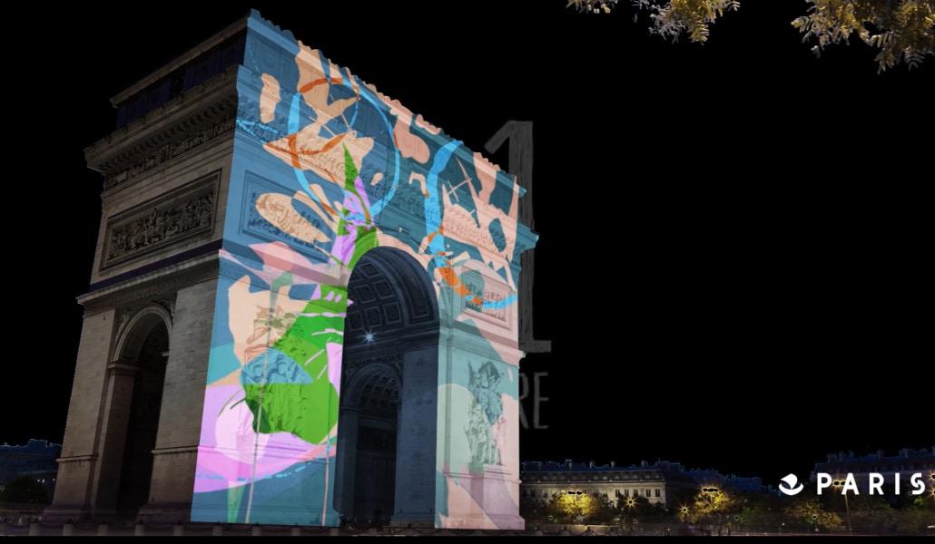 Un grand spectacle son et lumières sur l'Arc de Triomphe pour le nouvel an !