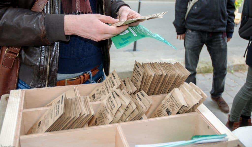 50.000 sachets de graines seront distribués gratuitement par la ville de Paris !