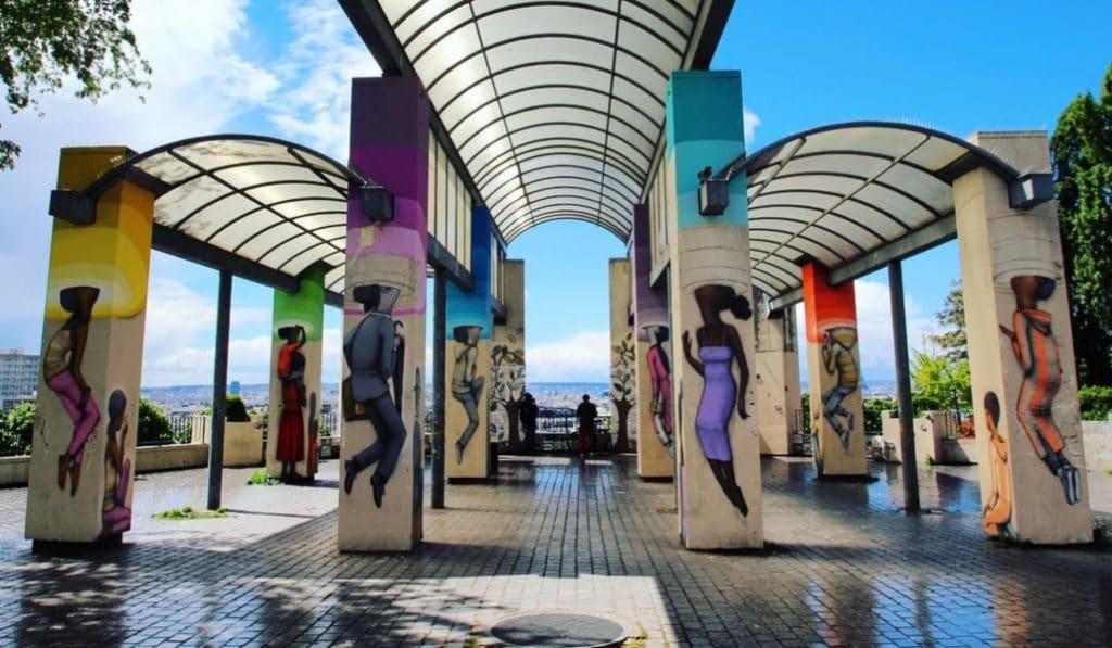 Un marché d'artisans d'art aura lieu tous les week-ends au belvédère de Belleville