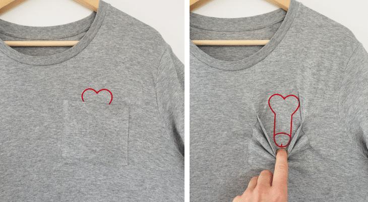 «Plan cœur» le t-shirt trompe l'œil qui fait le buzz !