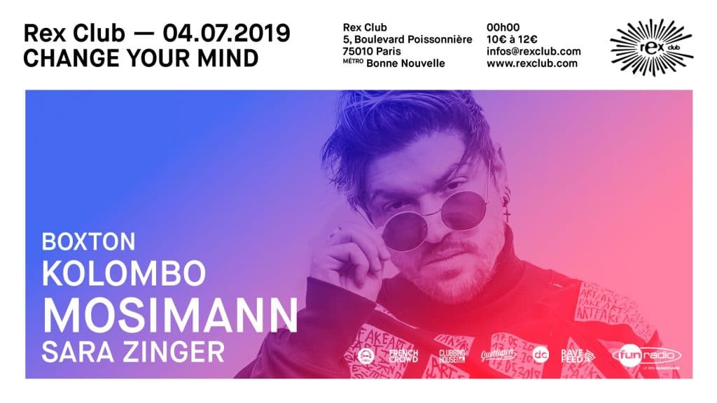 Change your mind : Mosimann en concert au Rex Club le 4 juillet !