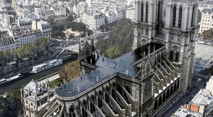 Paris : bientôt une piscine sur le toit de Notre Dame ?