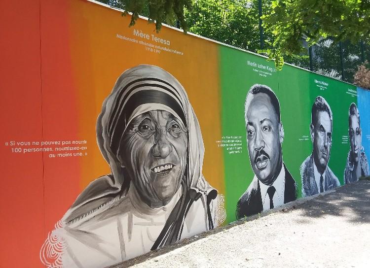 Steet-art : un Mur de la Paix inauguré dans le 19e à Paris