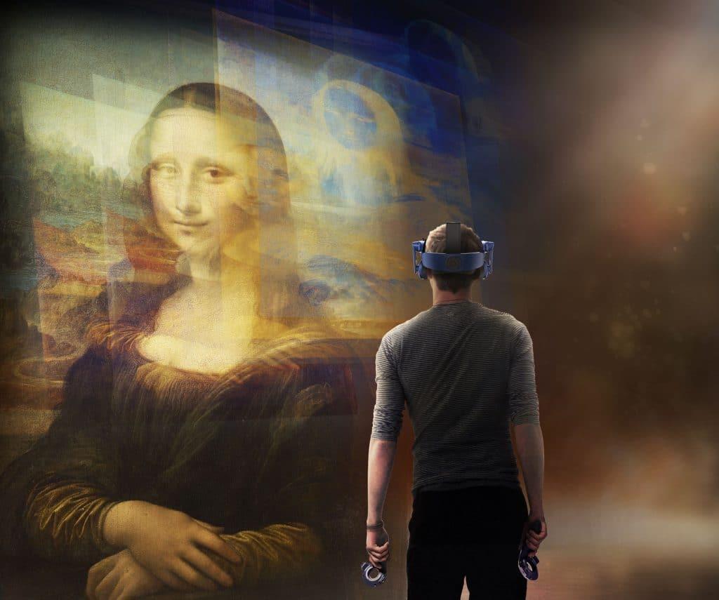 La Joconde en réalité virtuelle lors de l'expo dédiée à Léonard de Vinci au Louvre