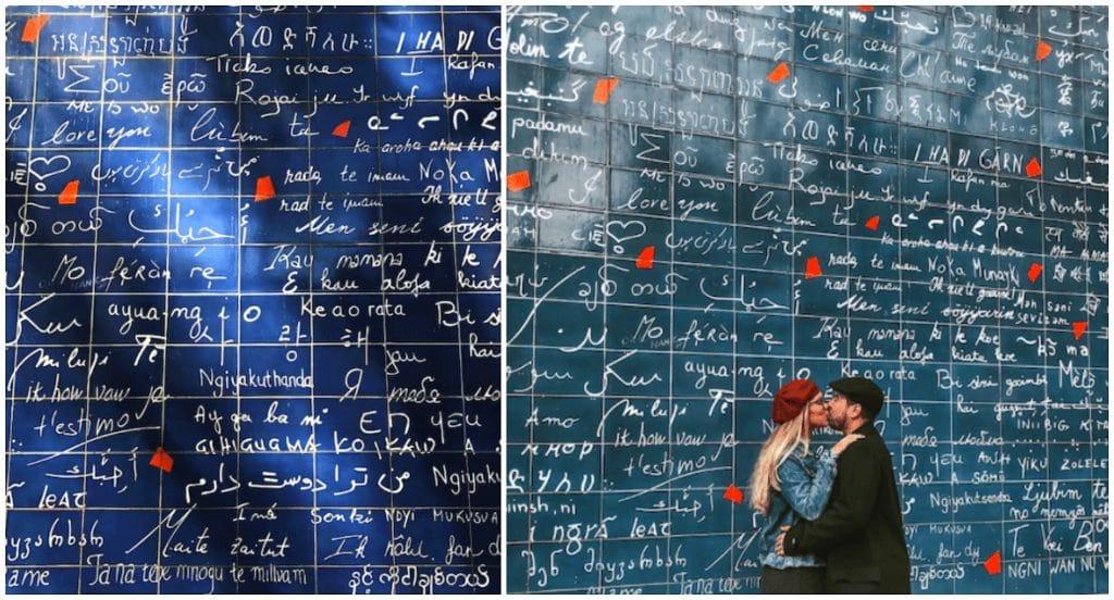 Histoire mur des je t'aime Paris
