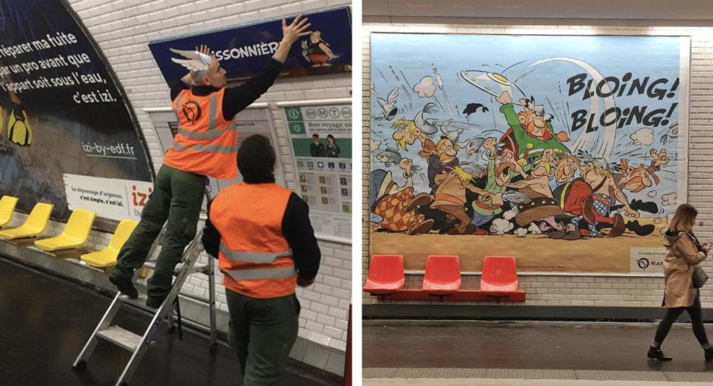 RATP : 12 stations de métro rebaptisées dans la nuit pour les 60 ans d'Asterix à Paris