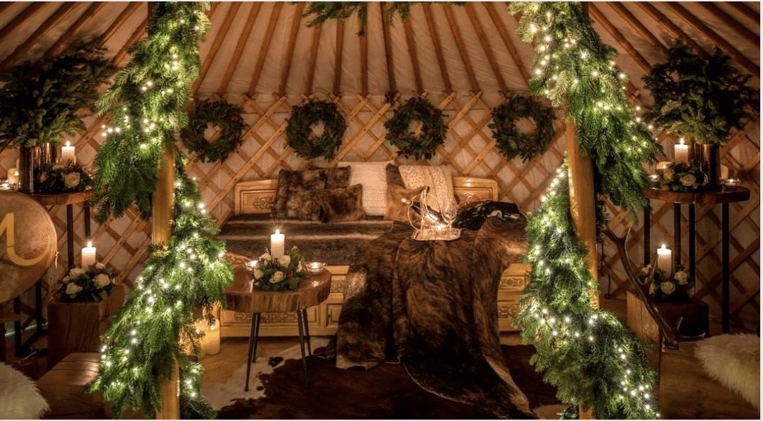 Pour Noël, une yourte d'hiver et un chalet Homerlobster éphémères à Paris !