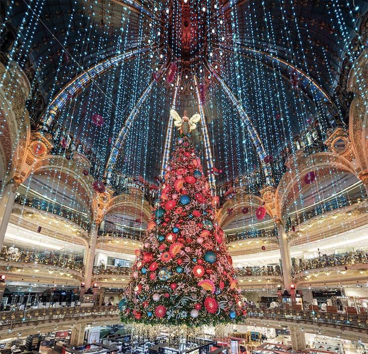 Vitrines, sapin et ruche : le fabuleux Noël des Galeries Lafayette