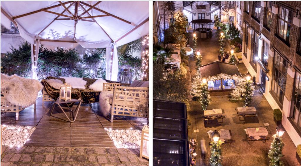 Un bar à chocolat installé dans une cour cachée à Paris pour l'hiver !