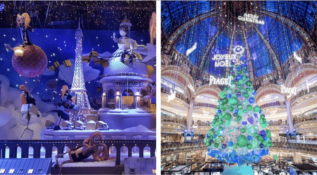 Les vitrines de Noël et illuminations de retour à Paris en novembre !