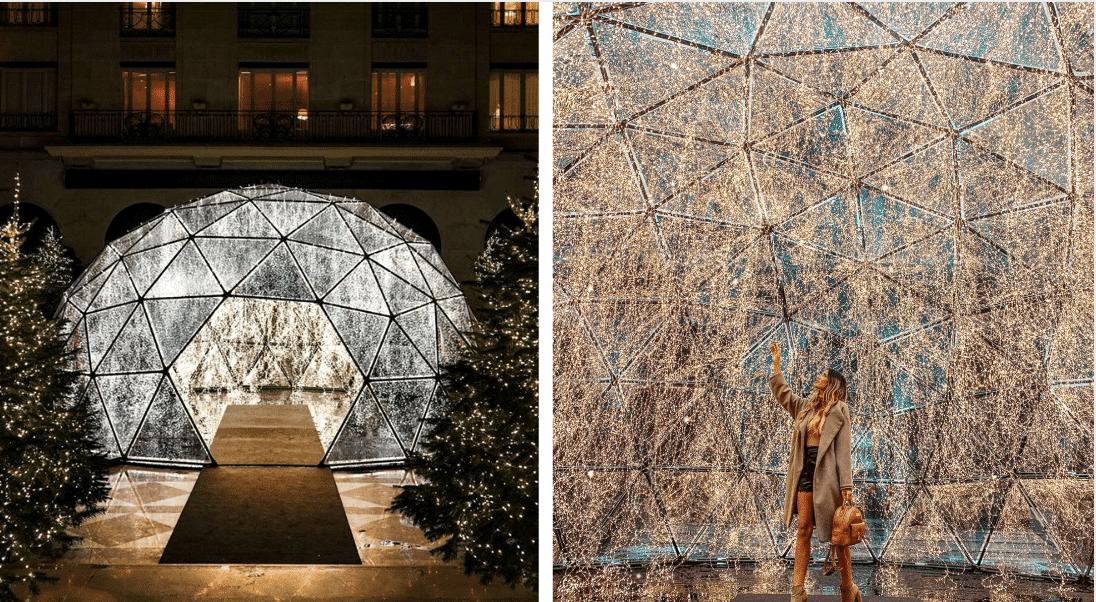 À Paris, un dôme lumineux scintillant s'installe dans une cour cachée !