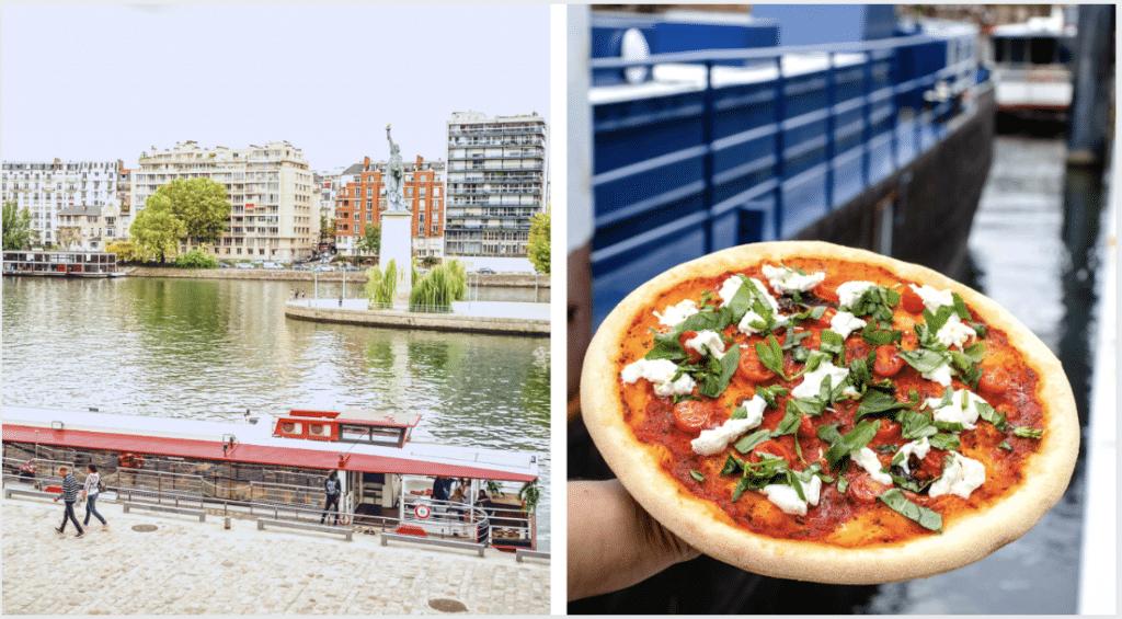 L'insolite Pizza sur Seine : la première pizzeria flottante de Paris à tester à tout prix !
