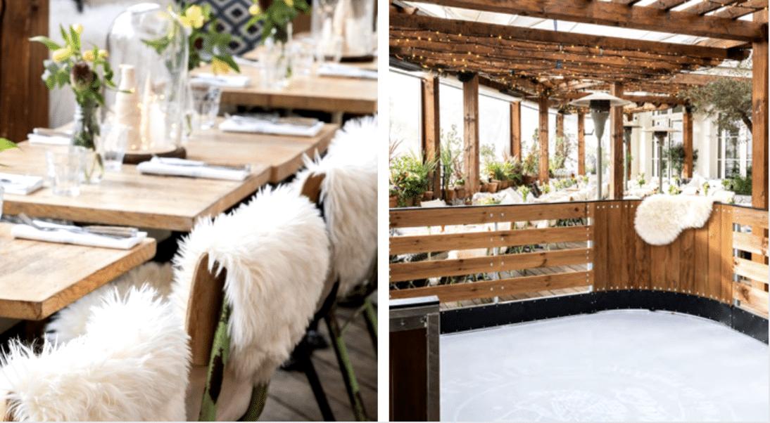 Patinoire et fondue savoyarde : un rooftop d'hiver façon station de ski à Paris !