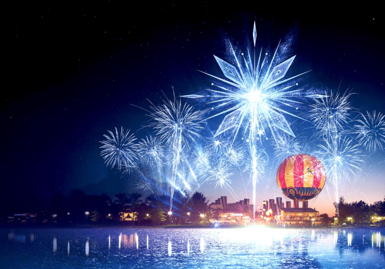 Un show son et lumières GRATUIT dédié à La Reine des Neiges donné sur le Lac de Disney !