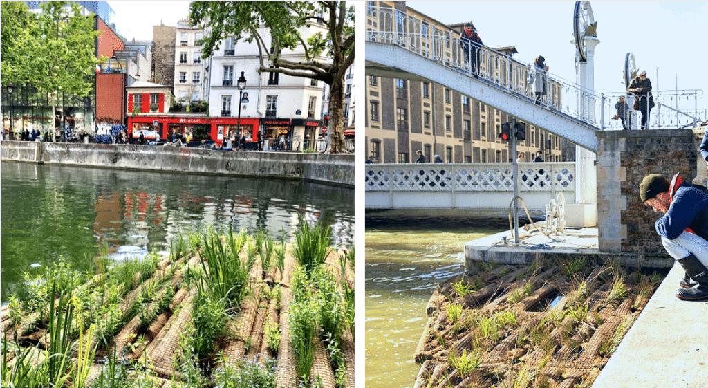 À Paris, un 2ème radeau végétalisé s'installe sur le Canal de l'Ourcq !