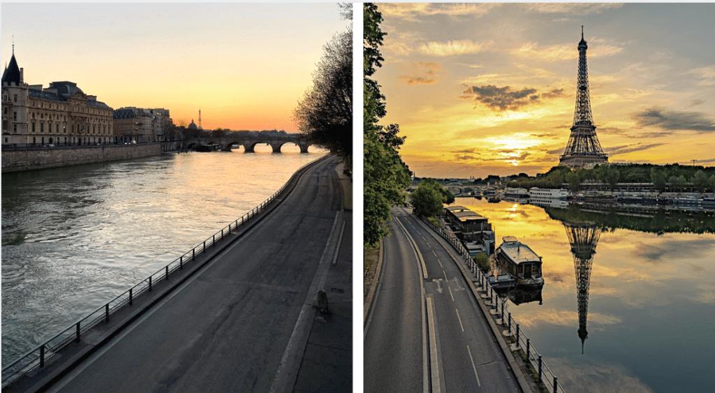 10 photos des rues de Paris inhabituellement vides pendant le confinement…
