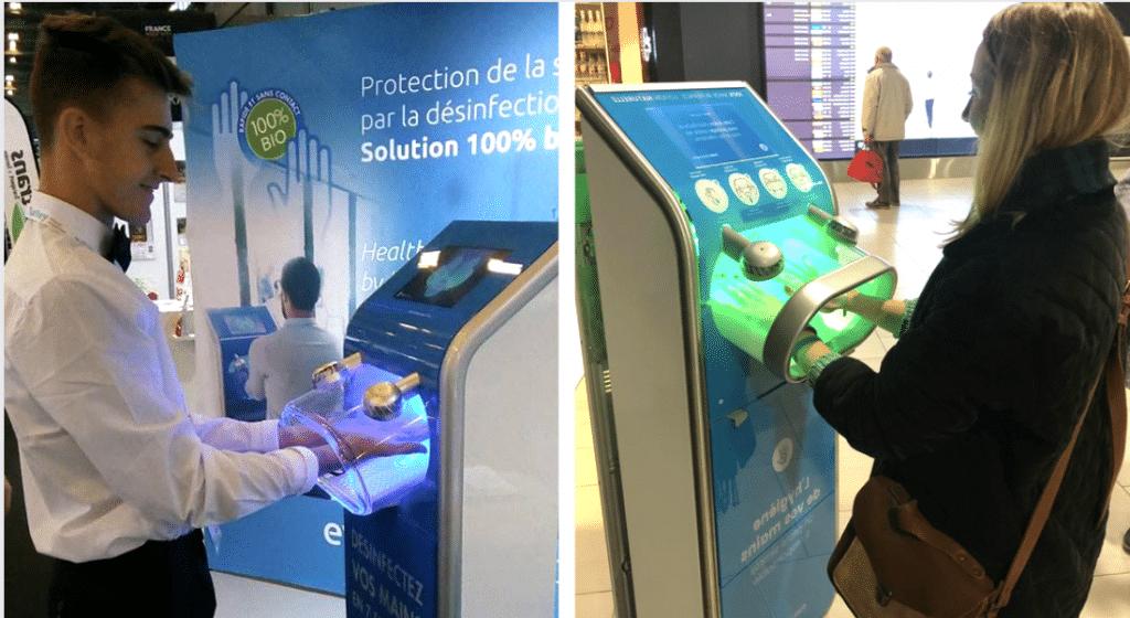 Une startup française conçoit une borne qui désinfecte vos mains en seulement 7 secondes !