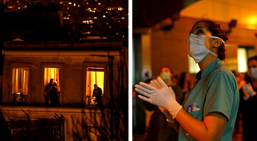 Les français réunis chaque soir aux fenêtres à 20h pour applaudir le personnel soignant !