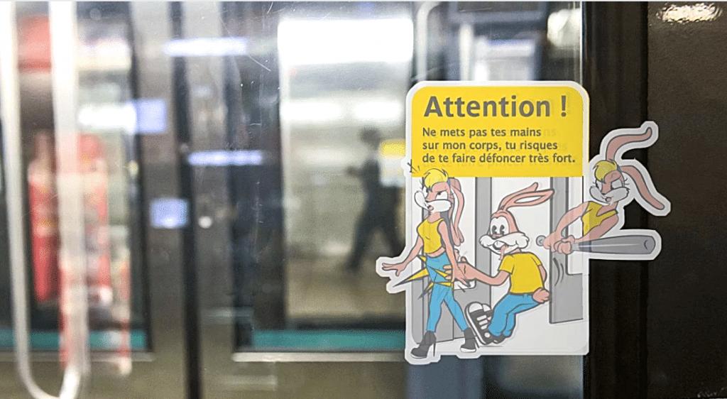 Serge, le lapin du métro revisité pour sensibiliser au harcèlement sexuel dans les transports !