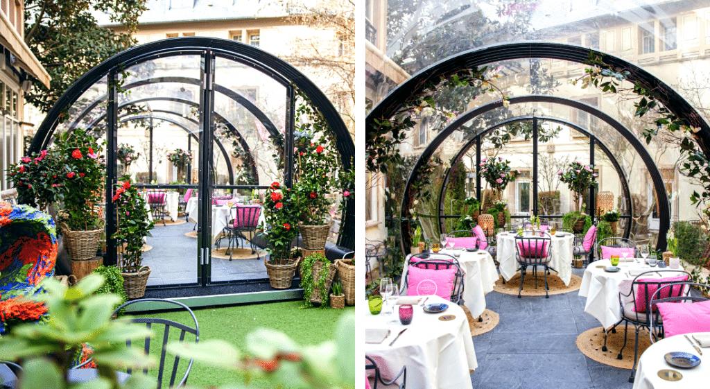 Une extraordinaire serre végétale éphémère s'installe dans un jardin caché à Paris !