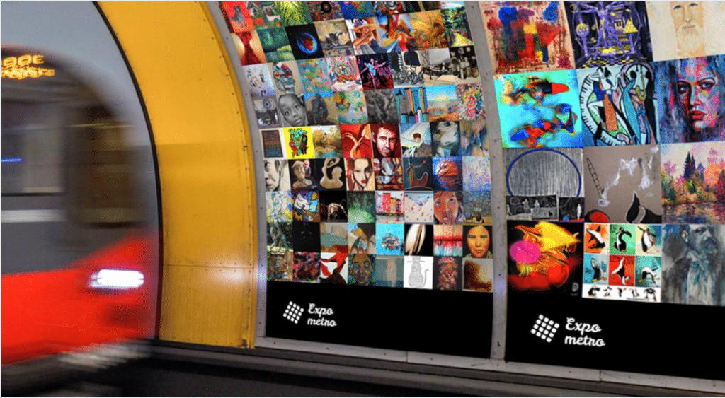 Expo Métro Paris : une fresque artistique monumentale investit le métro Opéra !