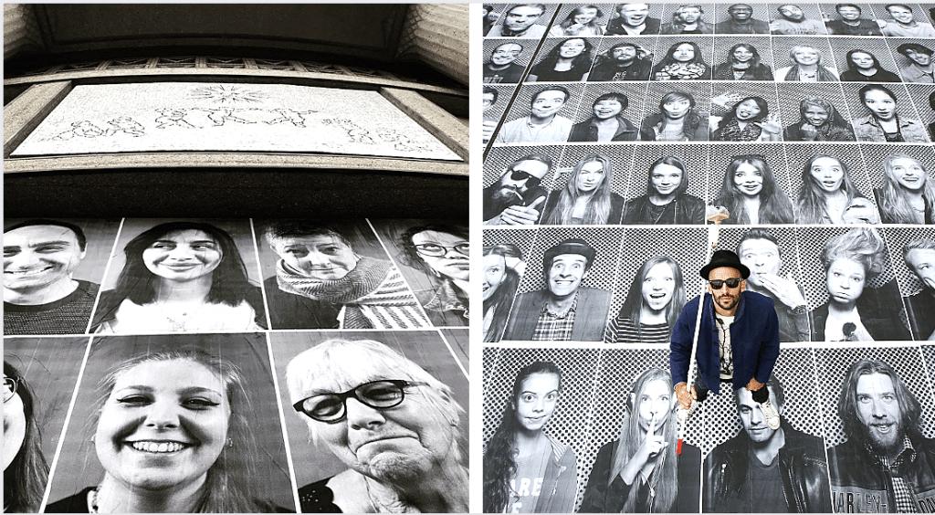 De retour à Paris, le street artiste JR colle 150 portraits sur la façade d'un monument !
