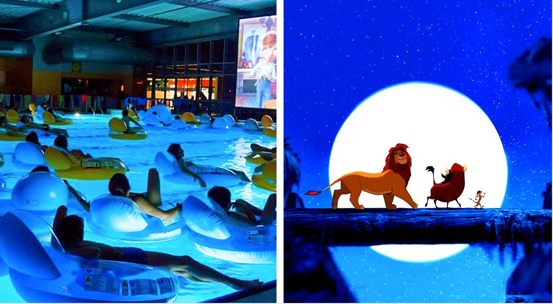 Insolite : Une séance d'aquaciné «Le Roi Lion» dans la piscine Joséphine Baker à Paris !