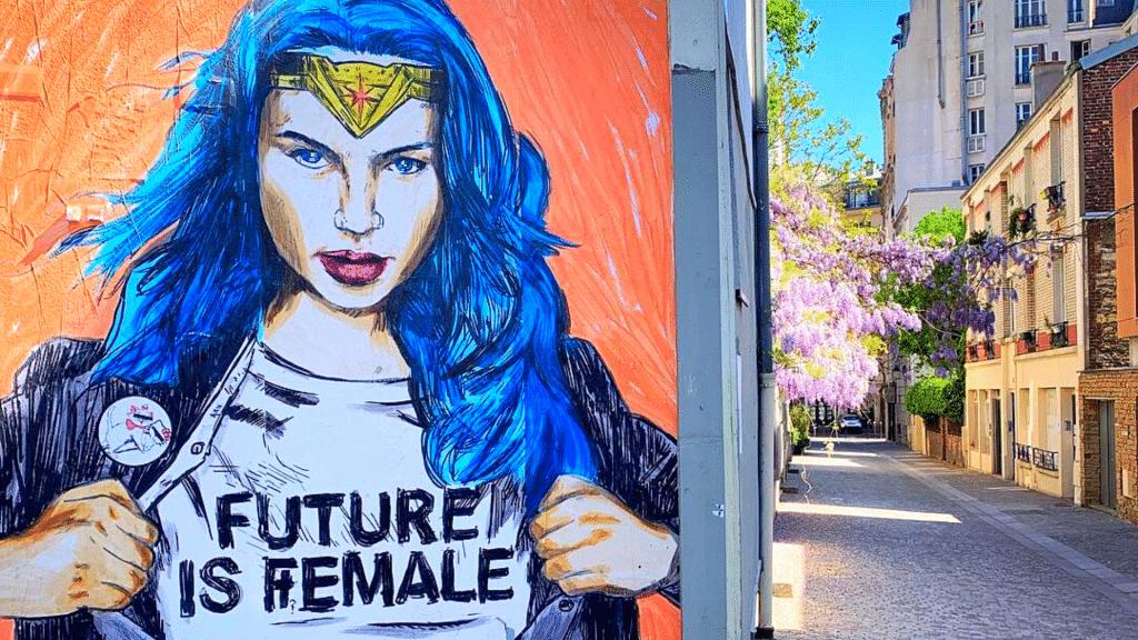 Graffitis féministes Paris