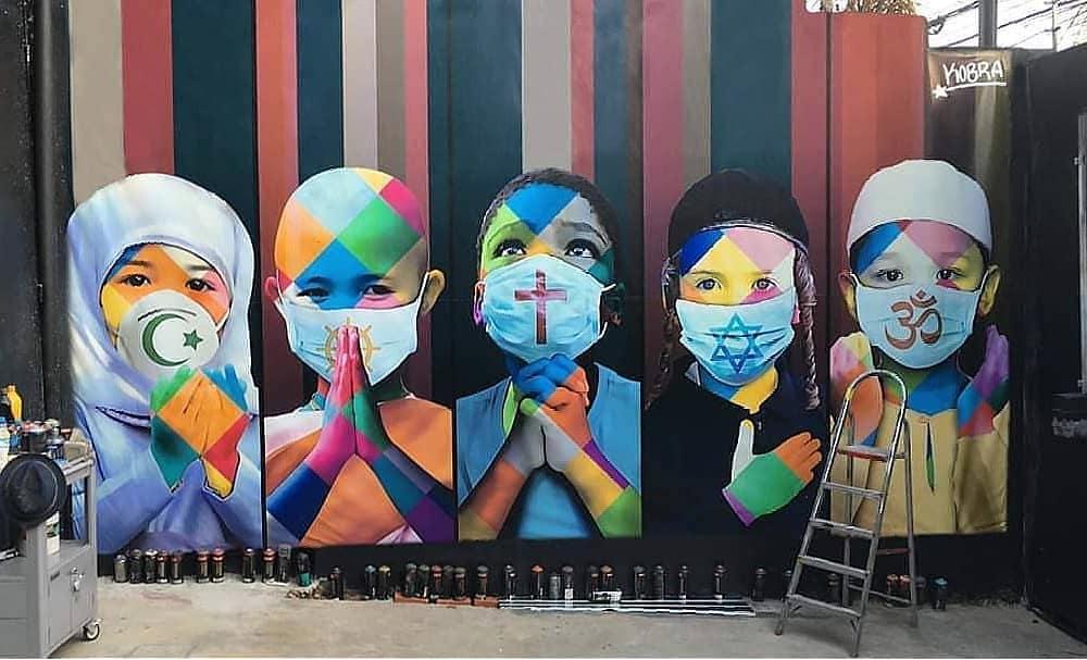 En images : quand le street art s'empare du coronavirus autour du monde ! - Paris Secret