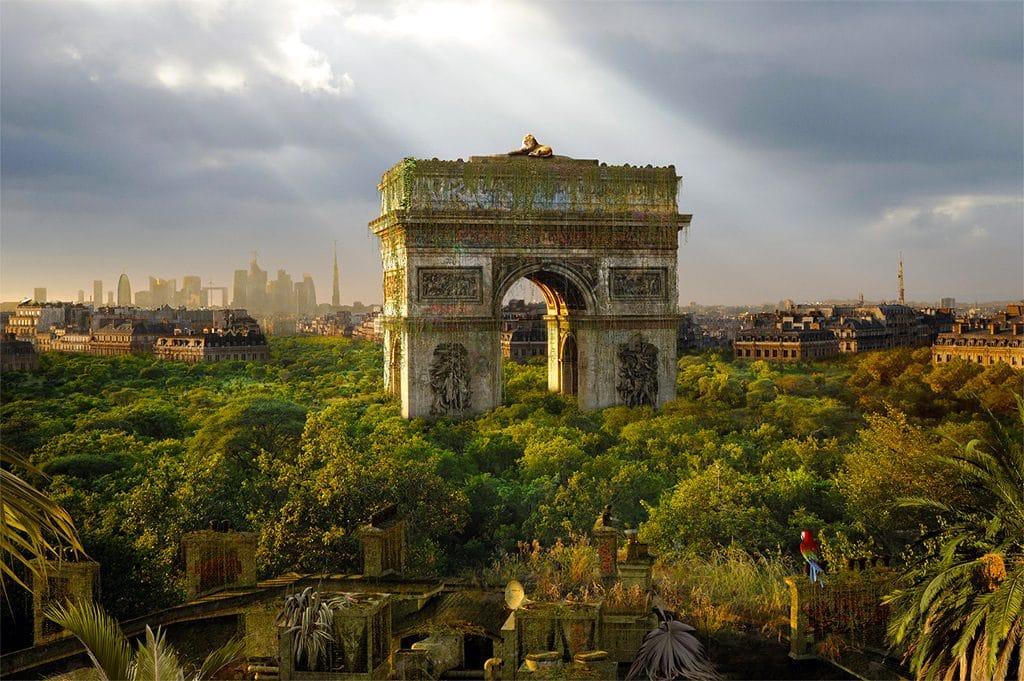 «Il était une fois demain» : le photographe Chris Morin-Eitner imagine Paris en jungle tropicale !