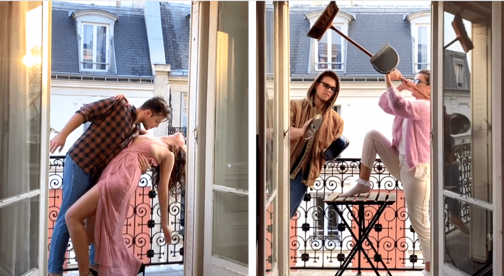 Confinement : chaque jour à Paris, ce couple fait le show depuis son balcon !