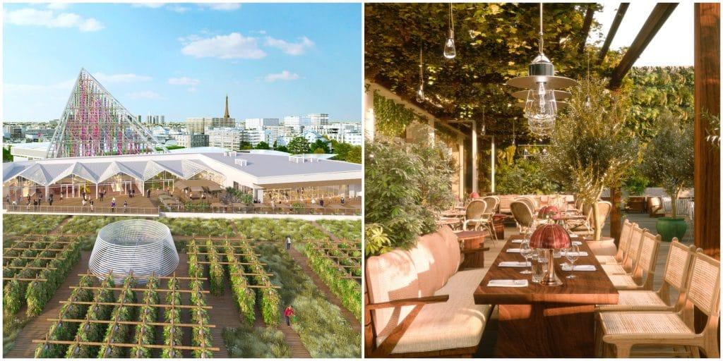 Paris : Un nouveau rooftop s'installe sur le toit de la plus grande ferme urbaine du monde !