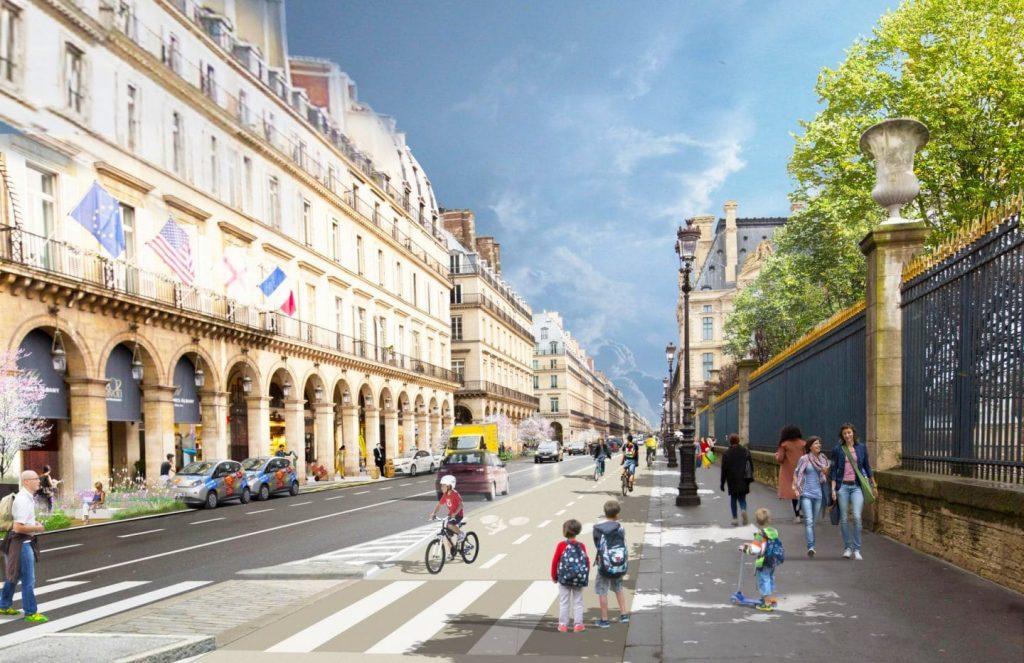 Paris : la rue de Rivoli désormais exclusivement réservée aux piétons, vélos et bus !