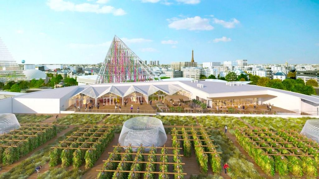 Paris : la plus grande ferme urbaine d'Europe s'installe sur le toit du Parc des Expositions !