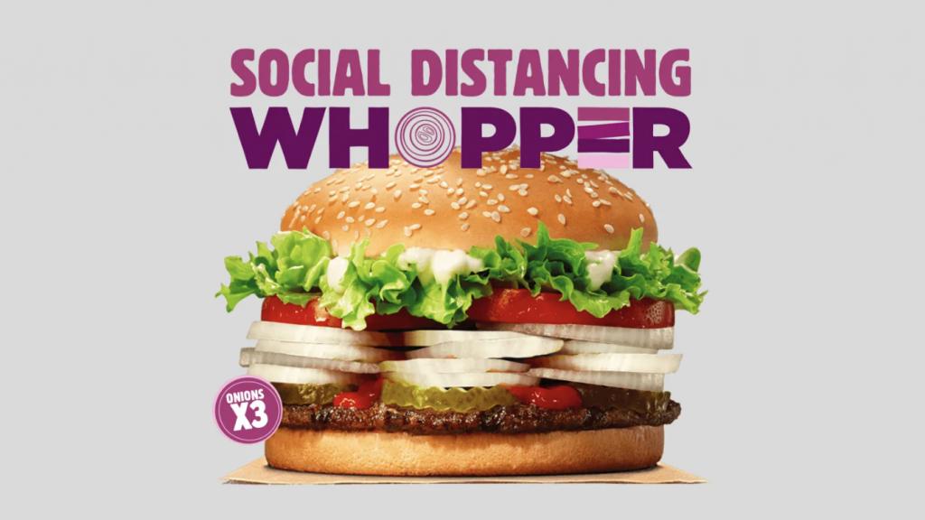 Burger King crée un Whopper Triple Oignon pour favoriser la distanciation sociale !