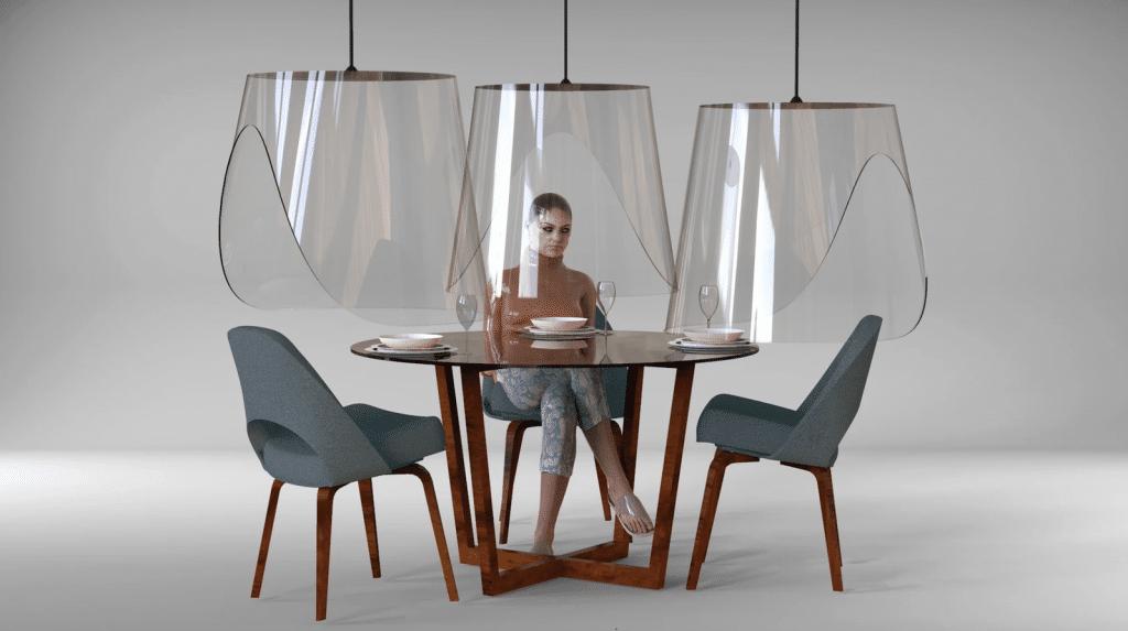 Coronavirus : un designer français crée des visières protectrices pour les restaurants !