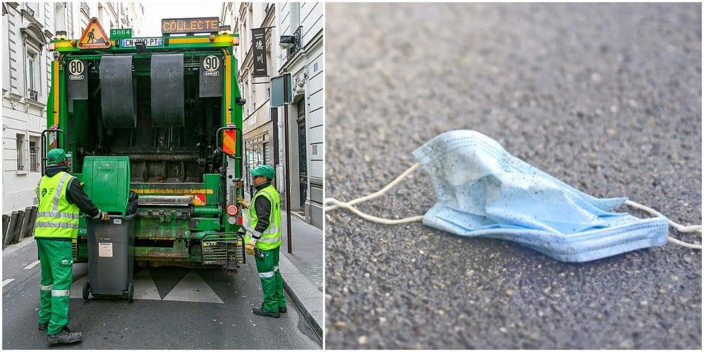 De plus en plus de masques jetés dans les rues de Paris : les éboueurs sont exaspérés !