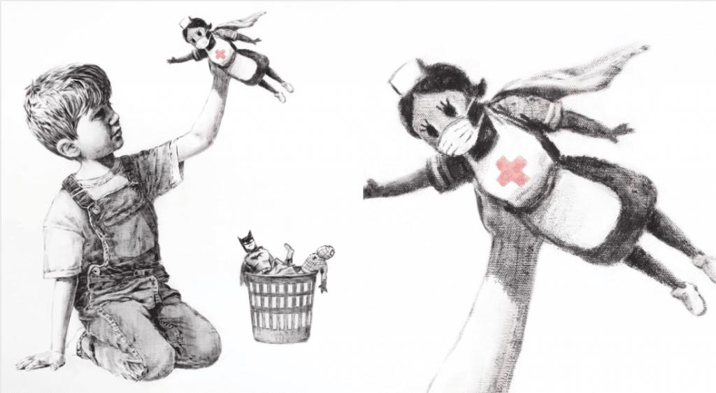 Coronavirus : la nouvelle oeuvre de Banksy pour rendre hommage aux soignants !