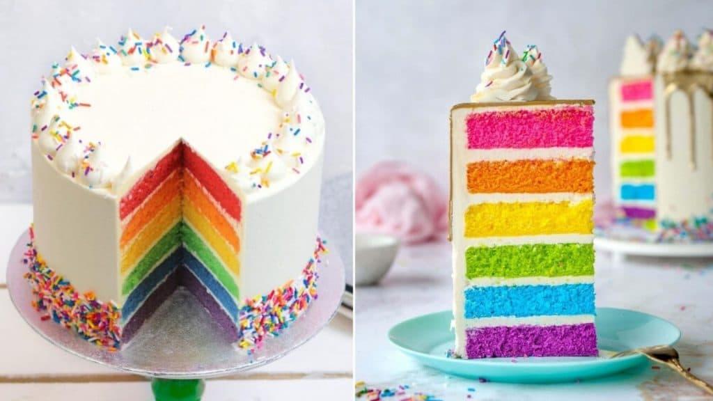 Quinzaine des Fiertés : réalisez un rainbow cake à la maison !