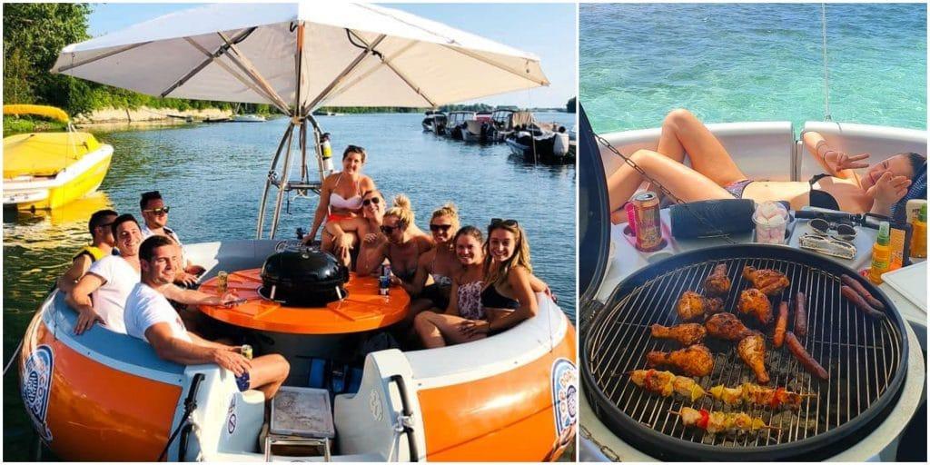 Insolite : en France, un bateau sans permis pour organiser des BBQ sur l'eau entre amis !