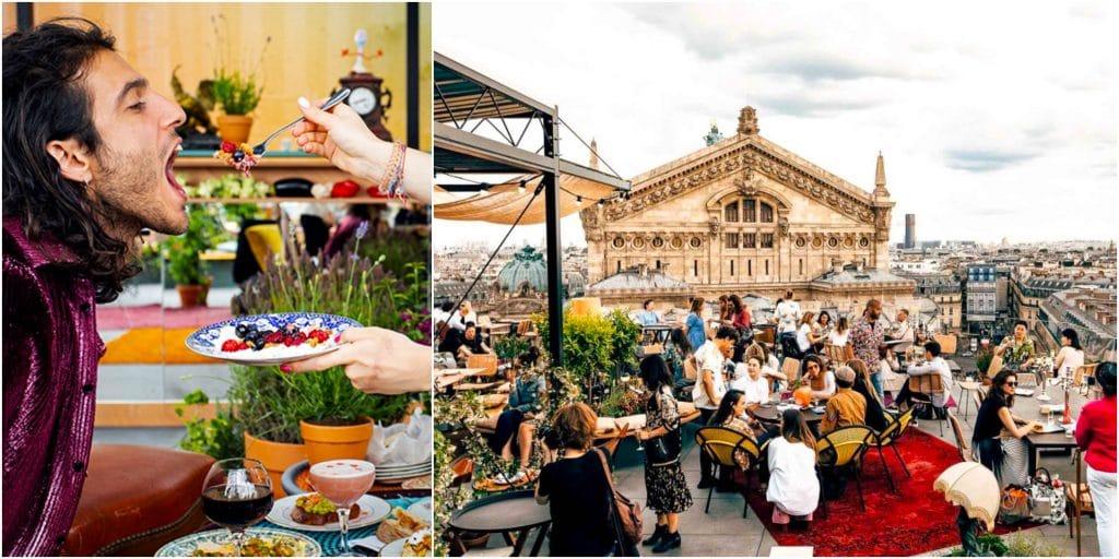 Paris : le restaurant éphémère en rooftop Créatures revient sur la terrasse des Galeries Lafayette !