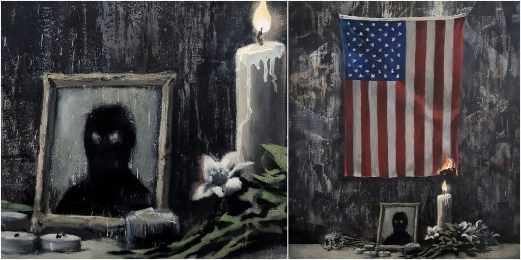 Banksy dévoile sa nouvelle oeuvre en hommage à George Floyd !