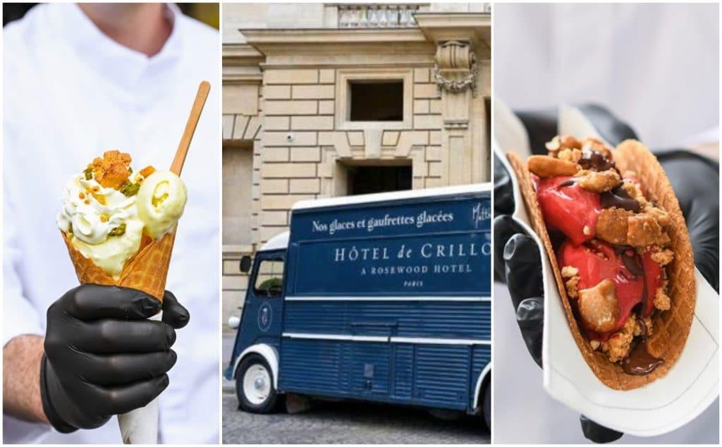 Paris : un camion à glaces vintage éphémère s'installe Place de la Concorde !