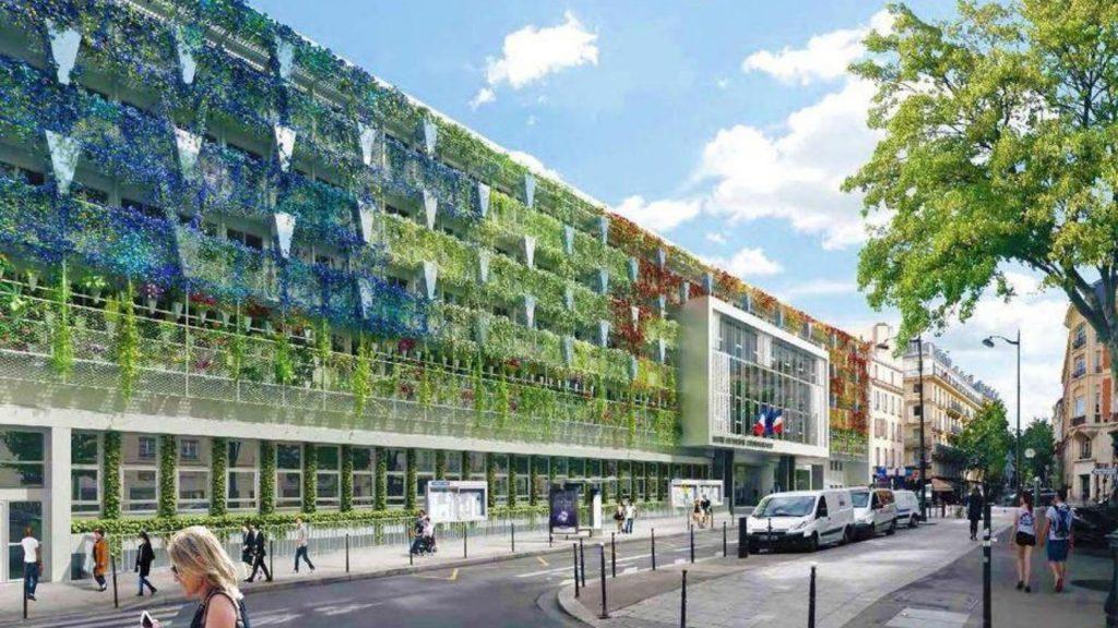 Paris : La Mairie du XVIIe arrondissement va végétaliser sa façade !