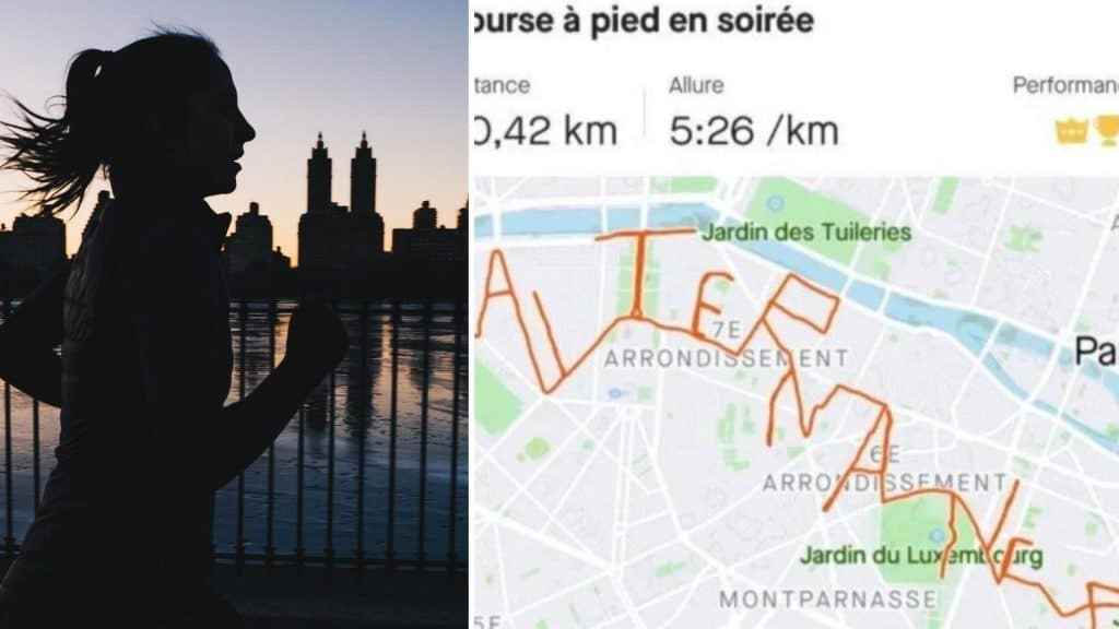 Paris : Une étudiante trace le mot «alternance» en course à pied pour trouver un poste !